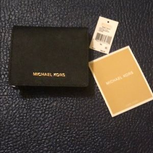 NWT Michael Kors Leather Flap Card Holder